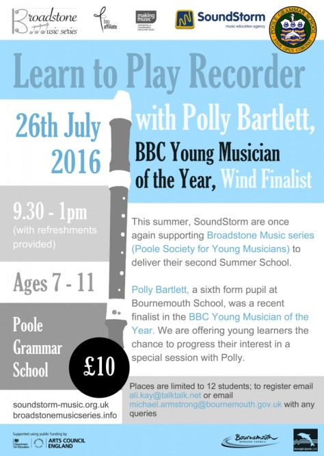 Broadstone-Music-Summer-School-2016-poster-polly-728x1024