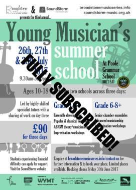 Summer School 2017SUBSCRIBED