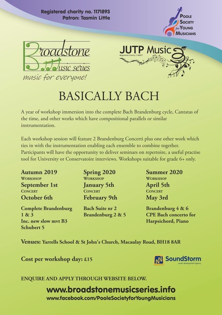 Broadstone Music Series Basically Bach Poster