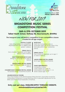 Broadstone Music Series Competition Festival Poster