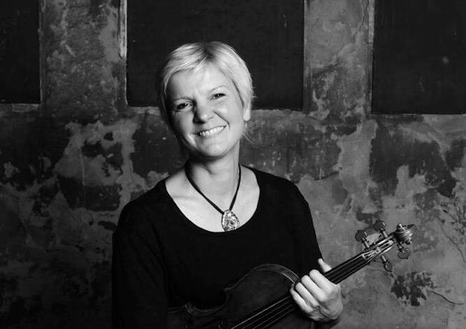 Catherine Martin with violin